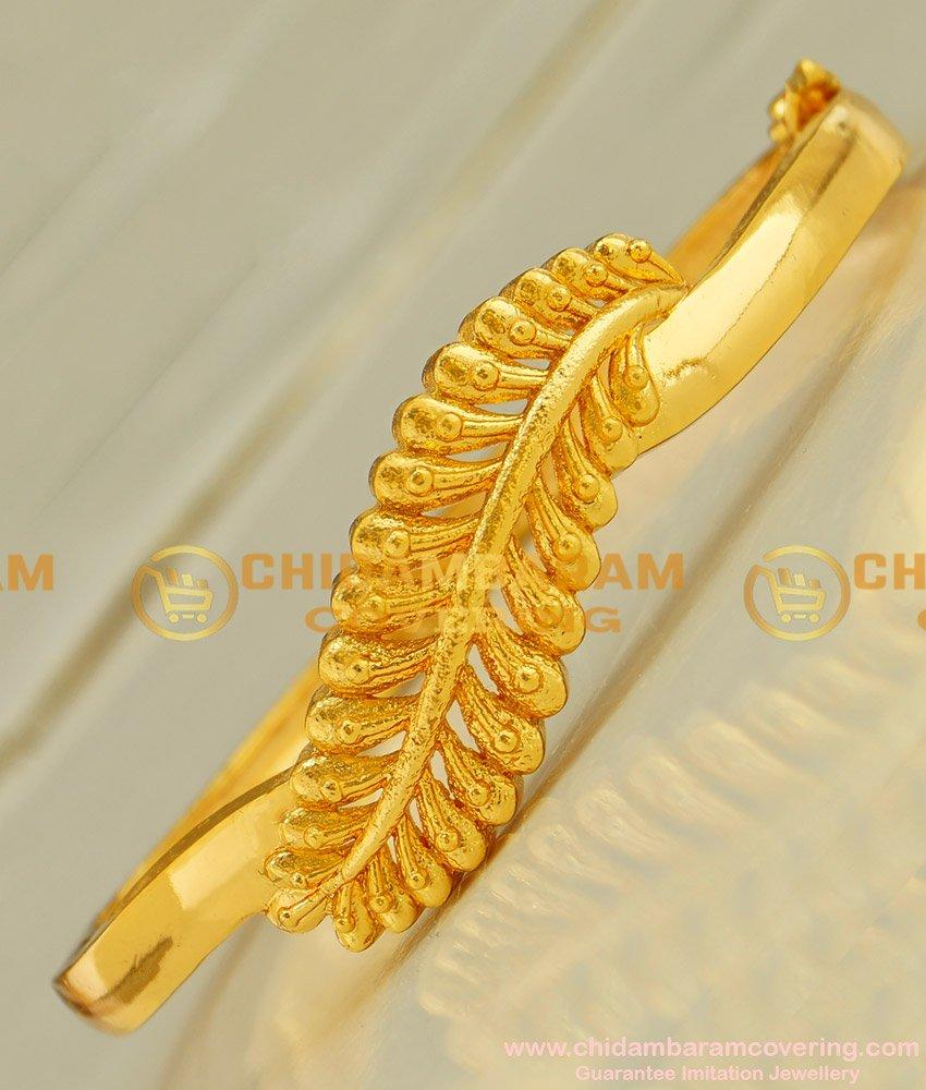 BCT32 - 2-6 Most Beautiful Leaf Shape Gold Bracelet Design Buy Online Shopping