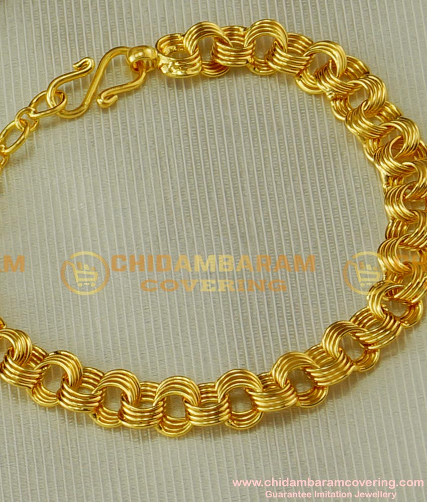 BCT38 - Simple Design Light Weight One Gram Gold Bracelet for Teenage Girl