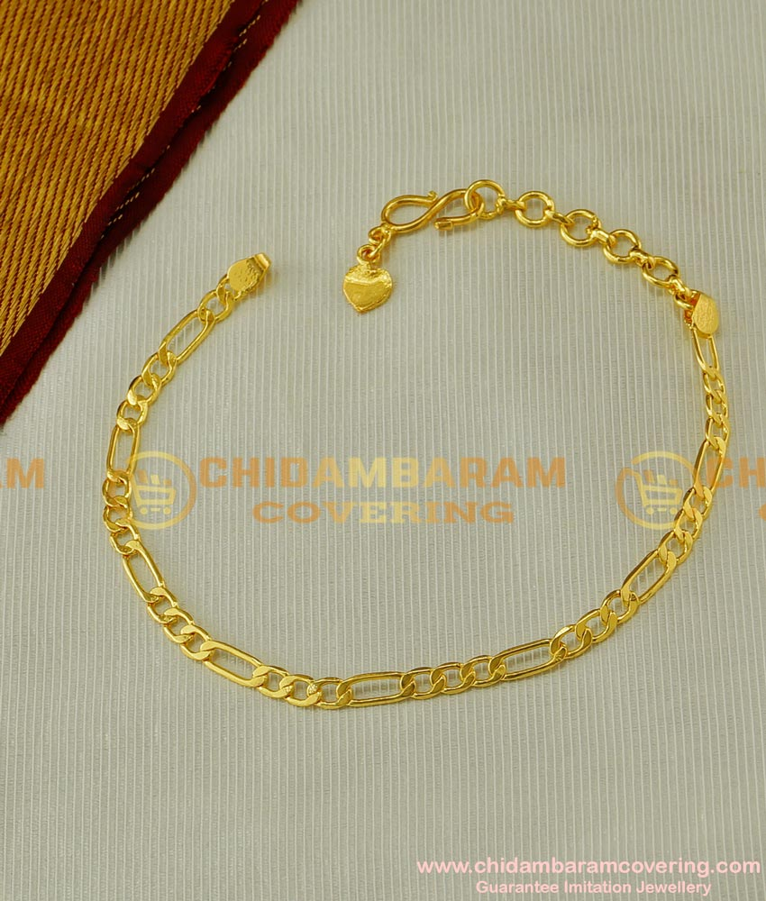 BCT39 - Stylish Gold Bracelet Designs for Girls Pure Gold Plated Light Weight Hand Bracelet Buy Online