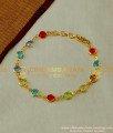 BCT47 - Attractive Gold Multicolor Gems Stone Bracelet Buy Online Shopping