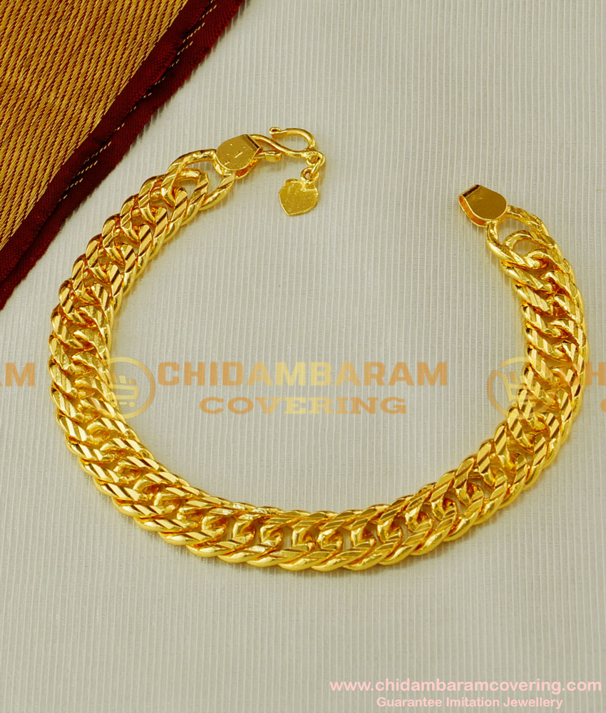 BCT53 - Unique Light Weight Stylish One Gram Gold Bracelet Design for Men And Women