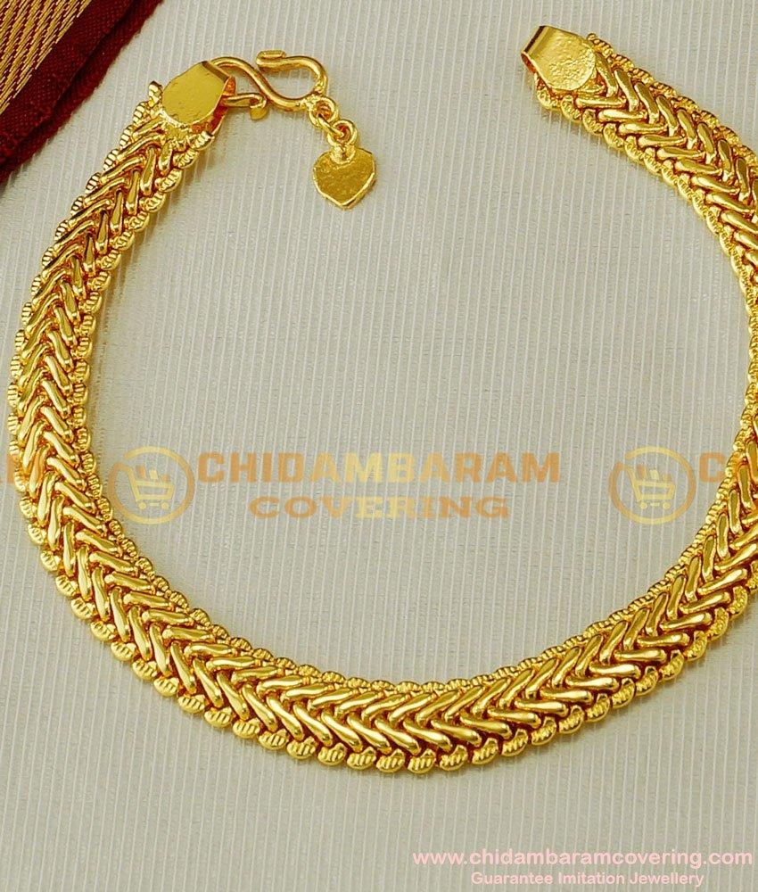 BCT54 - 1 Gram Gold Chain Hand Bracelet for Men Wedding Jewellery Online