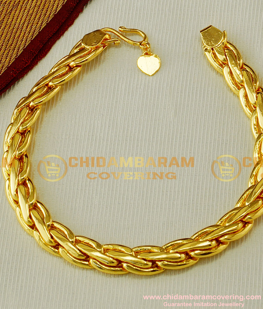 BCT58 - Modern Men Gold Bracelet Design Solid Wedding Hand Bracelet for Men