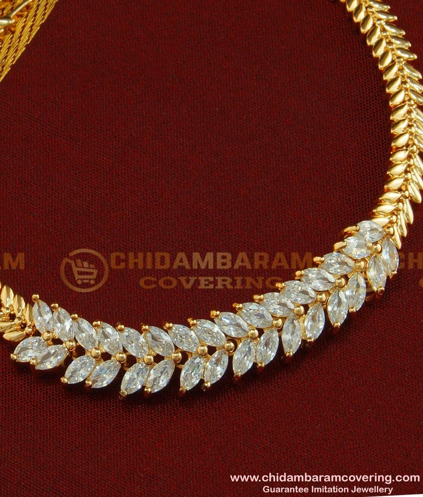 BCT75 - Unique American Diamond Rose Gold Bracelet Best Gift for Women