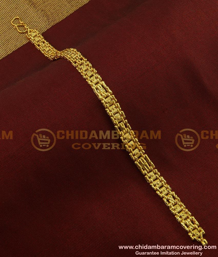 BCT76 - One Gram Gold Hand Bracelet Design Male Wedding Jewellery Collection Online