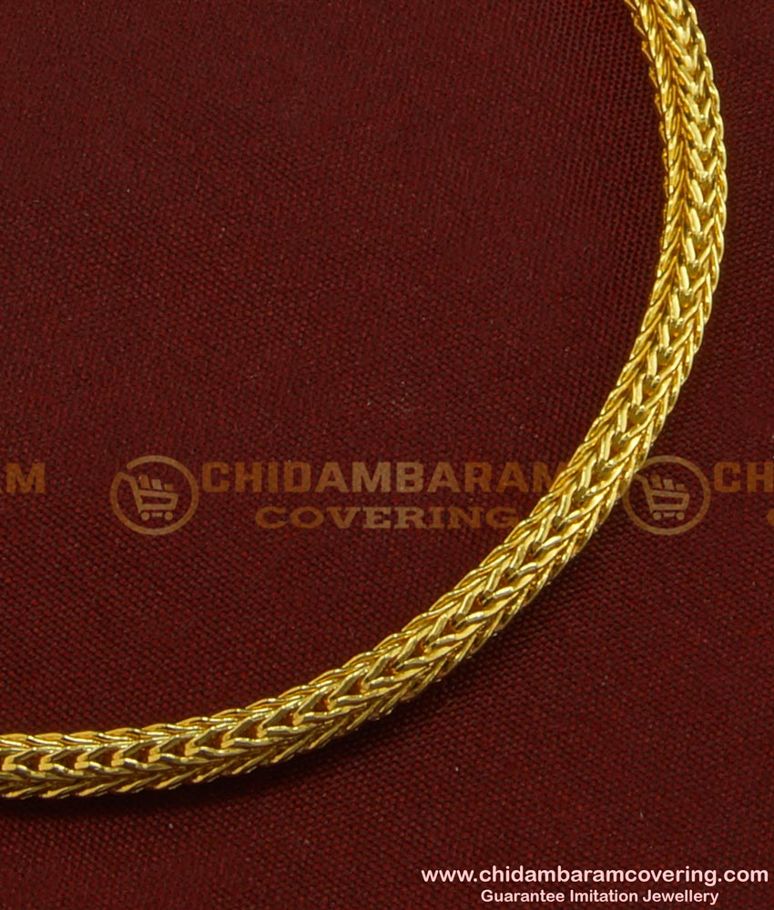 BCT86 - Gold Plated Simple Roll Chain Bracelet Design Imitation Jewellery