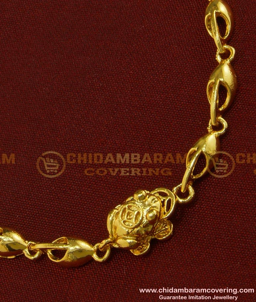 BCT88 - Trendy Gold Plated Gold Design Teenage Bracelet Online