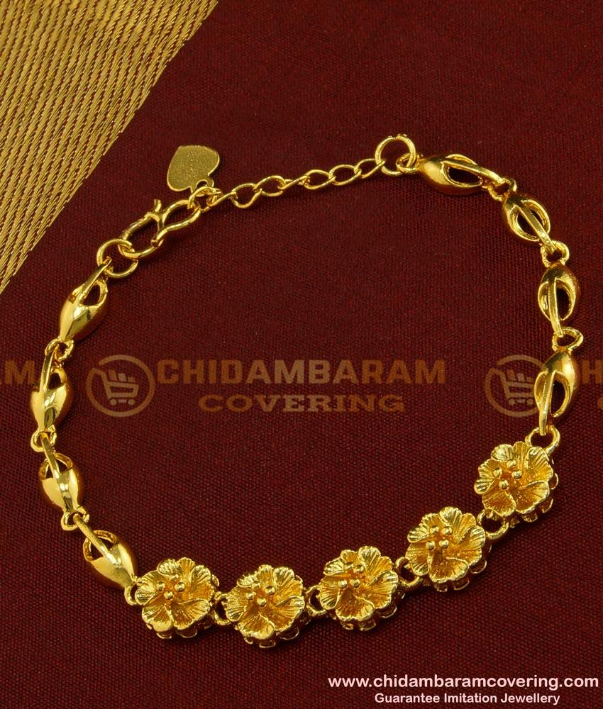 BCT90 - Fashion Female Jewelry Charm Flower Design Bracelet Online