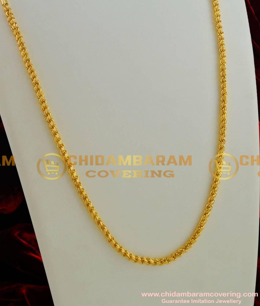 CHN002-LG - 30 inches Long Gold Plated Thirumangalyam Kodi (Thali Saradu) Chain