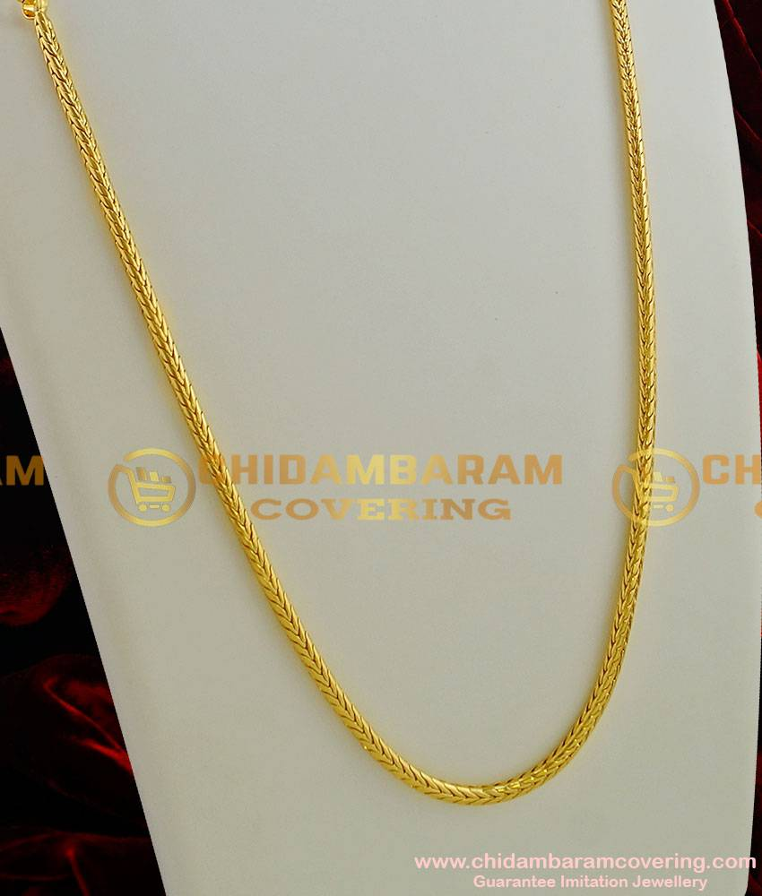 CHN003-LG - 30 inches Gold Plated Thirumangalyam Kodi (Nantha Saradu) Knitted Design Chain