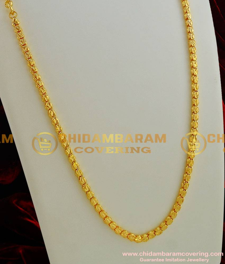 CHN004 - Gold Plated Jewellery Traditional Box Chain Kumil Design