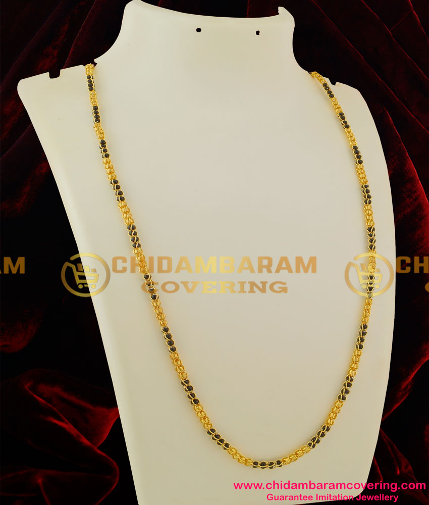 Chn038 Lg 30 Inches Long Kerala Karugamani Chain Designs Gold Plated Mangalsutra Online Buy Original Chidambaram Covering Product At Wholesale Price Online Shopping For Guarantee South Indian Gold Plated Jewellery,What Channel Does Designated Survivor Come On