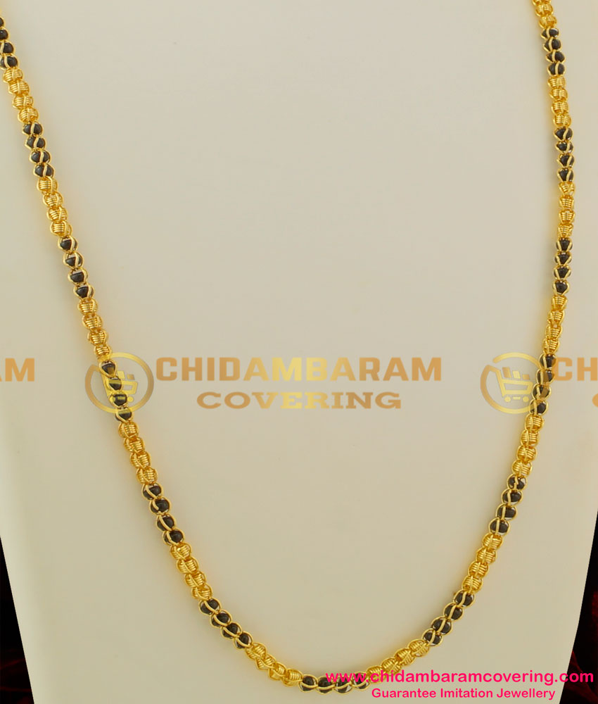 CHN038 - Kerala Karugamani Chain Designs Gold Plated Mangalsutra Online