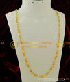 CHN076 -LG- 32 Inches Beautiful Long Gold Plated Designer Gold Beads With Pearl Chain Designs For Women