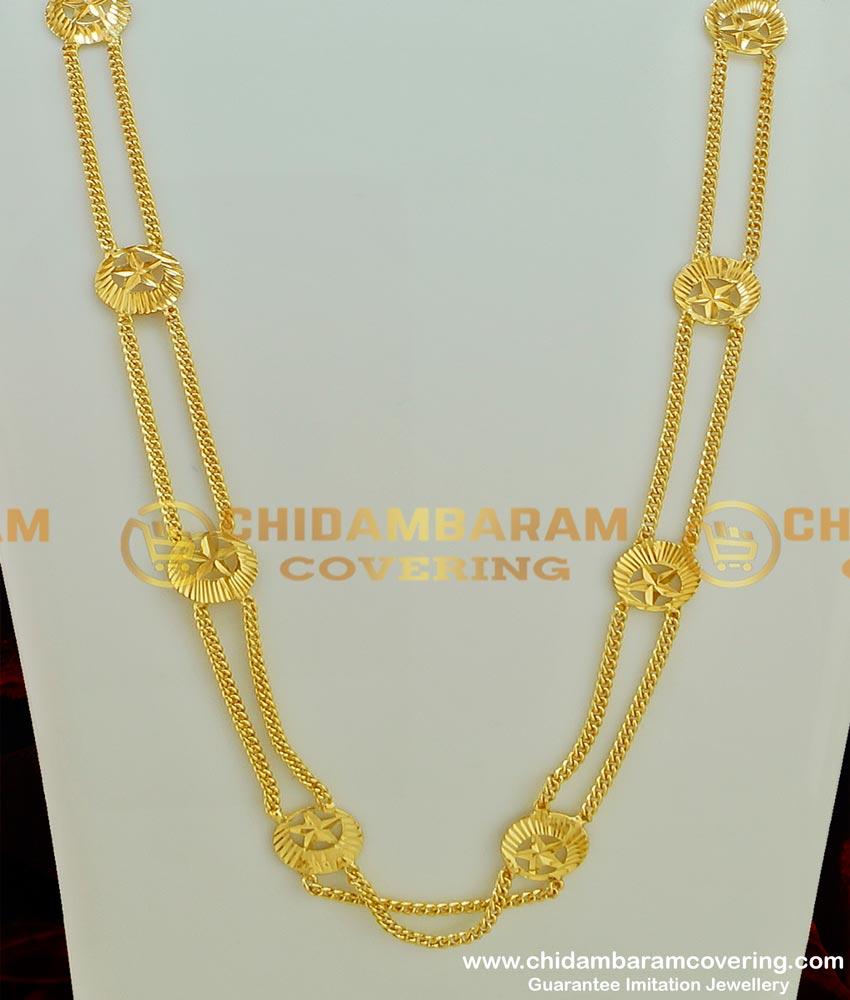 CHN078 - Gold Plated Rettai Vadam Pirai Chain Muslim Bridal Marriage Thali Chain Design Buy Online