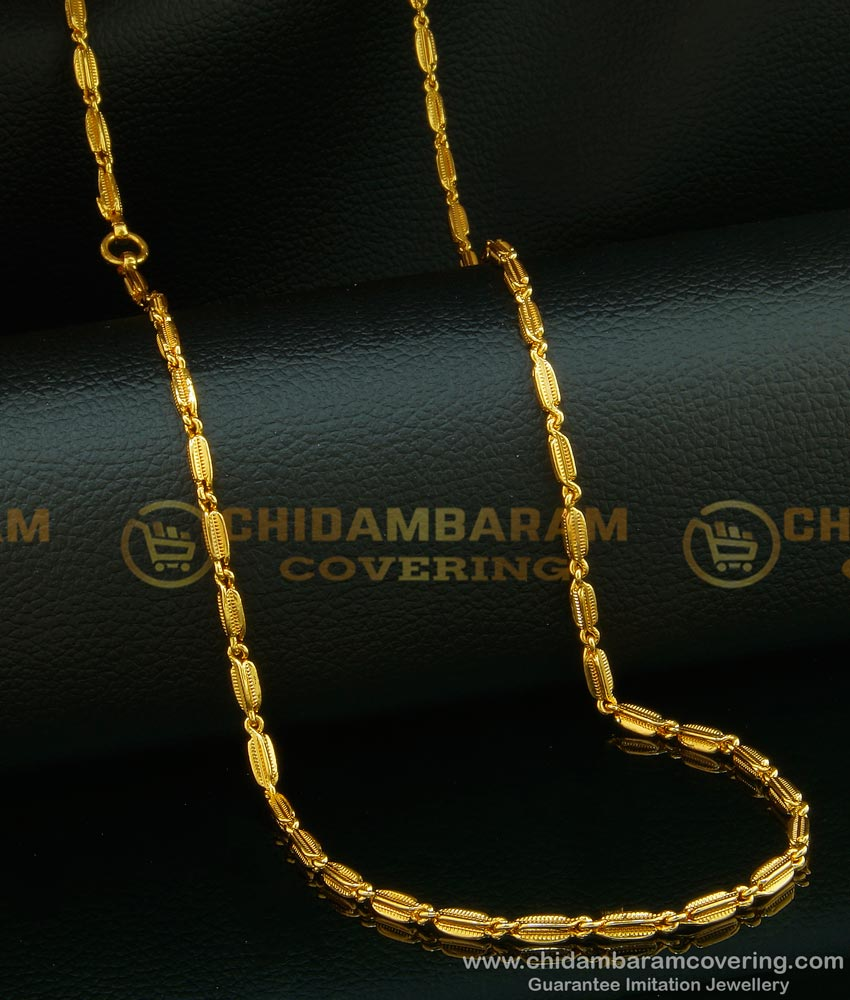 CHN086 - One Gram Gold Plated Female Daily Wear Beautiful Gold Chain Design Buy Online