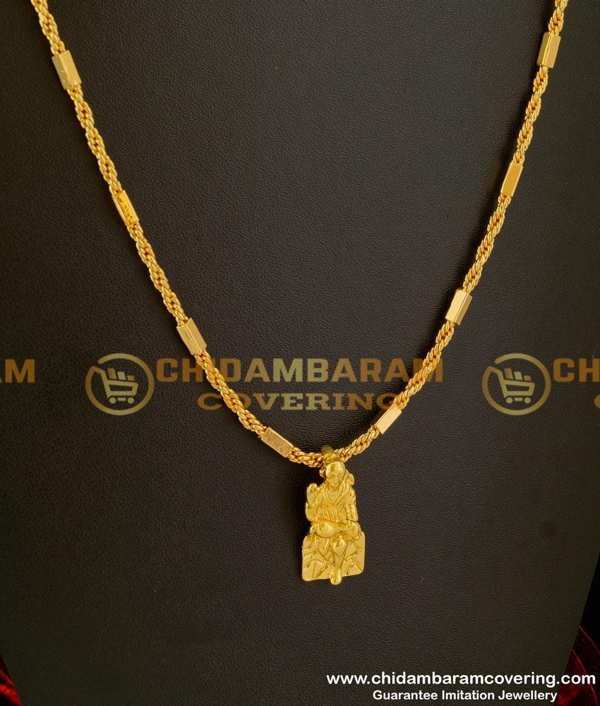 DCHN006 - Spiritual Shirdi Sai Baba Pendant with Long Chain Imitation Jewellery Purchase Online