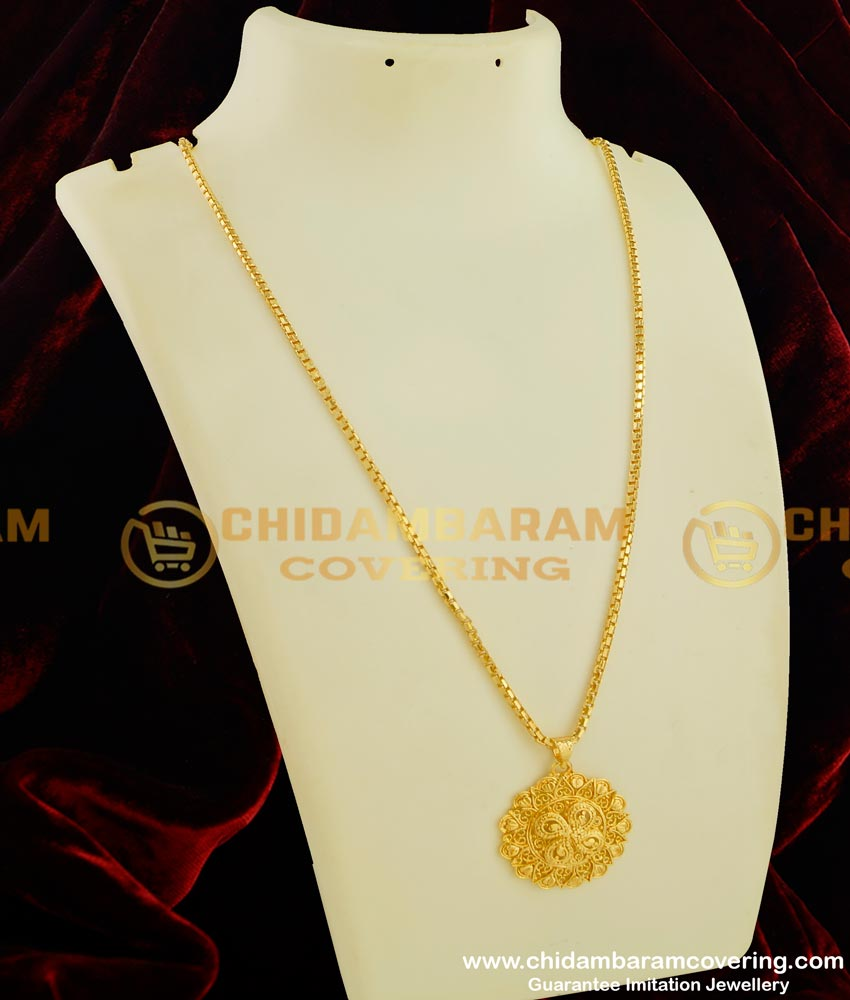 DCHN046 - Pure Gold Plated Guarantee Long Chain with Pendant Collection