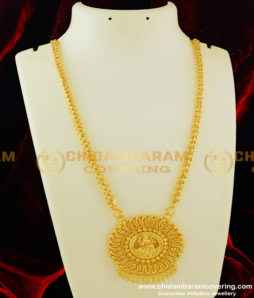 DCHN064 - Classic Round Ashtalakshmi Pendant Design With 24 Inches Jasmine Chain Buy Online