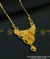 DCHN093 - Pure Gold Plated Daily Wear Guaranteed Long Chain With Pendant Collection