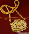 DLR011 - Pure Gold Plated Impon Stone Gajalakshmi Pendant with Chain Design Online