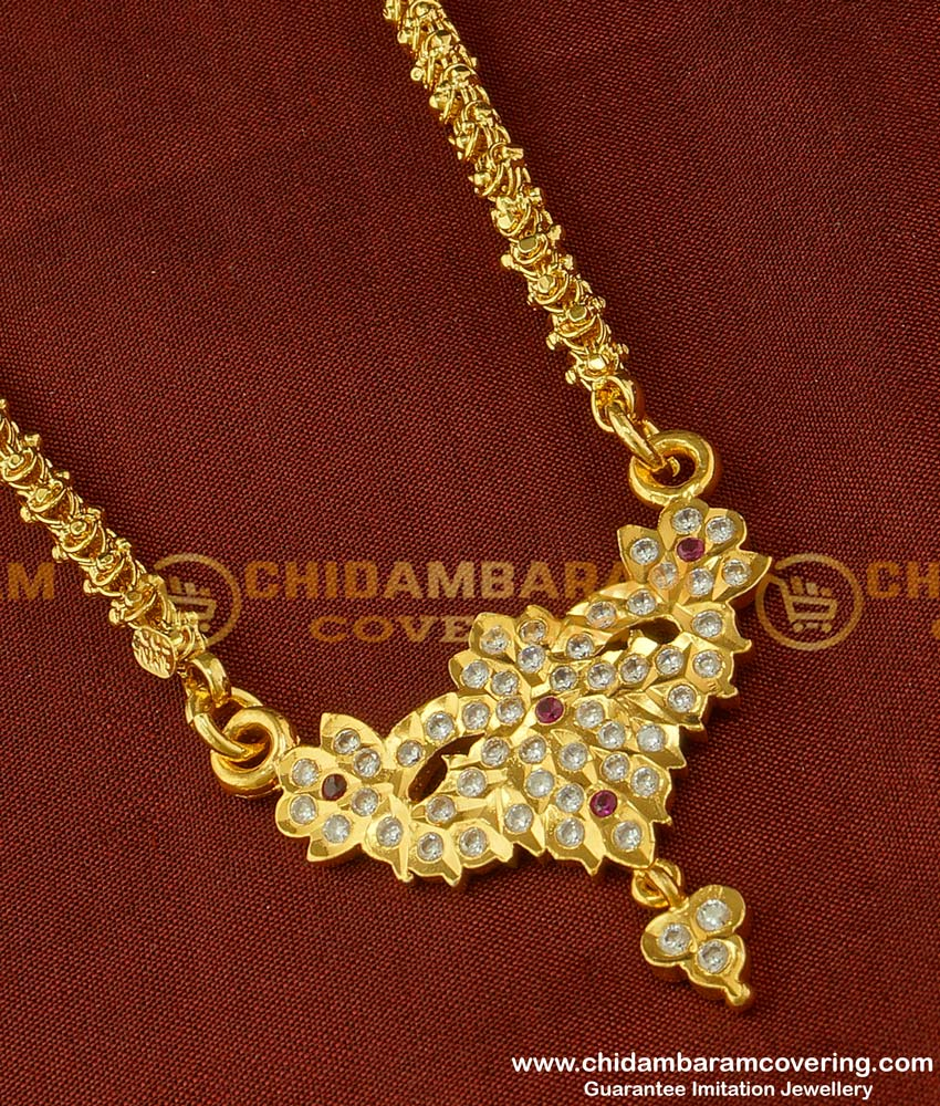 DLR022 - Buy Impon One Gram Gold Plated Pendant with Jasmine Chain Special Offer Price Online