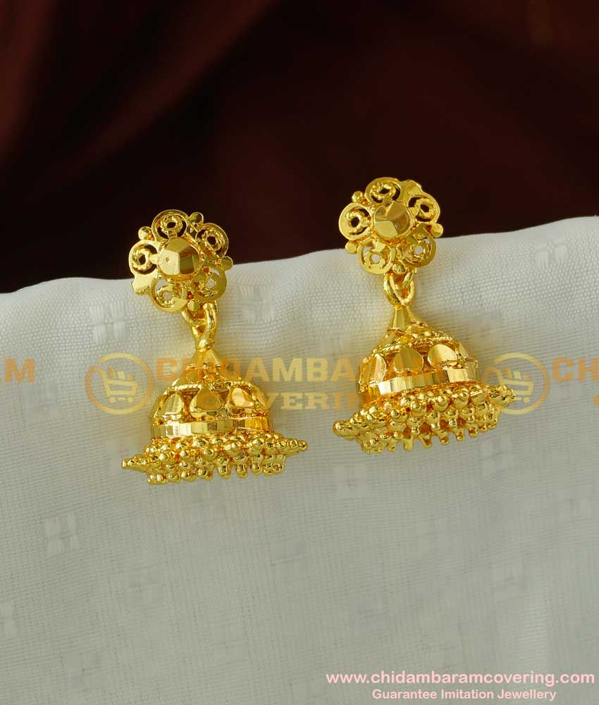ERG059 – Gold Plated Jhumka For Girls Jewellery Designs Buy Online Shopping