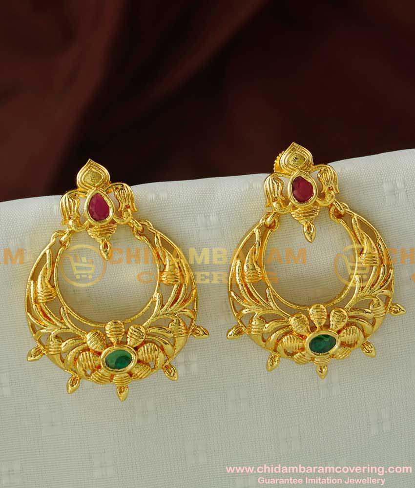 ERG087 – New Collections Desiner Chandbali Earring Imitation Jewlery