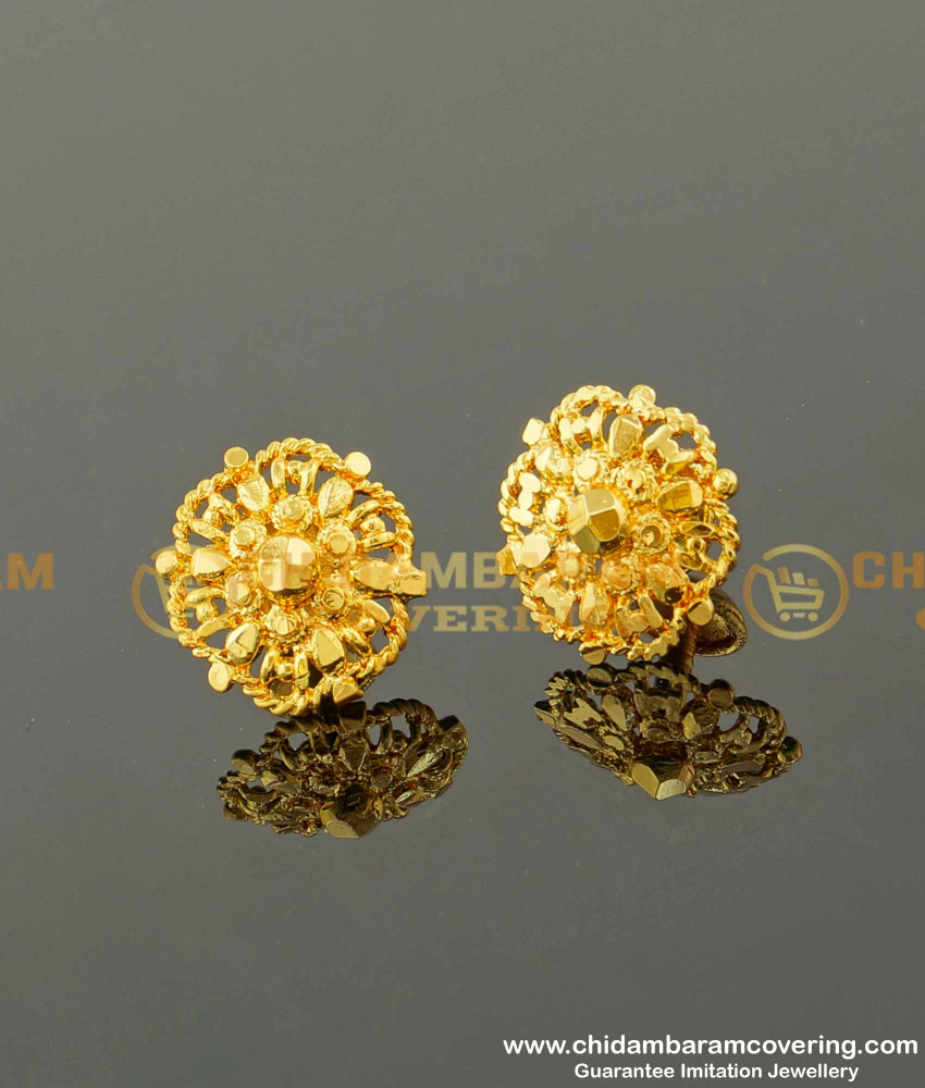 ERG088 – Traditional Gold Plated Daily Wear Stud Designs For Women Online