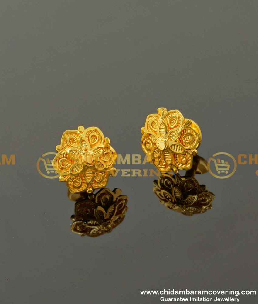 ERG091 – Beautiful Double Layer Flower Design Small Size Earring Designs