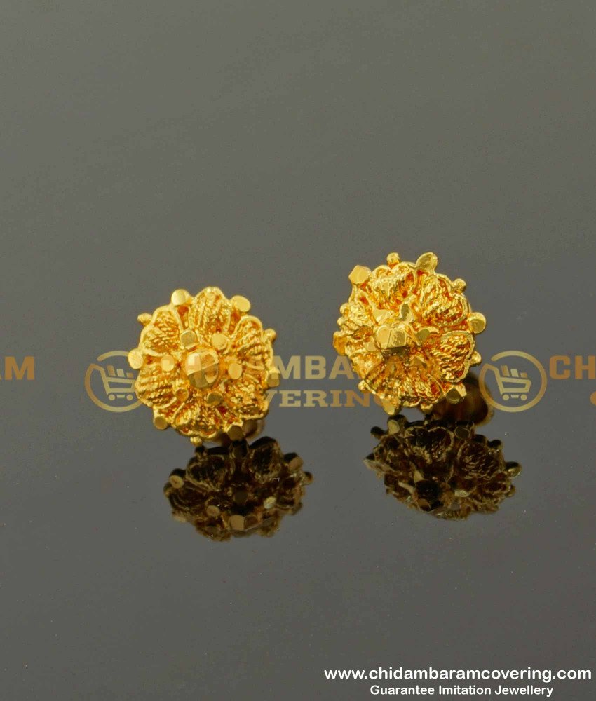 ERG093 – Daily Wear Medium Size Stud Designs Imitation Earrings For Women And Girls