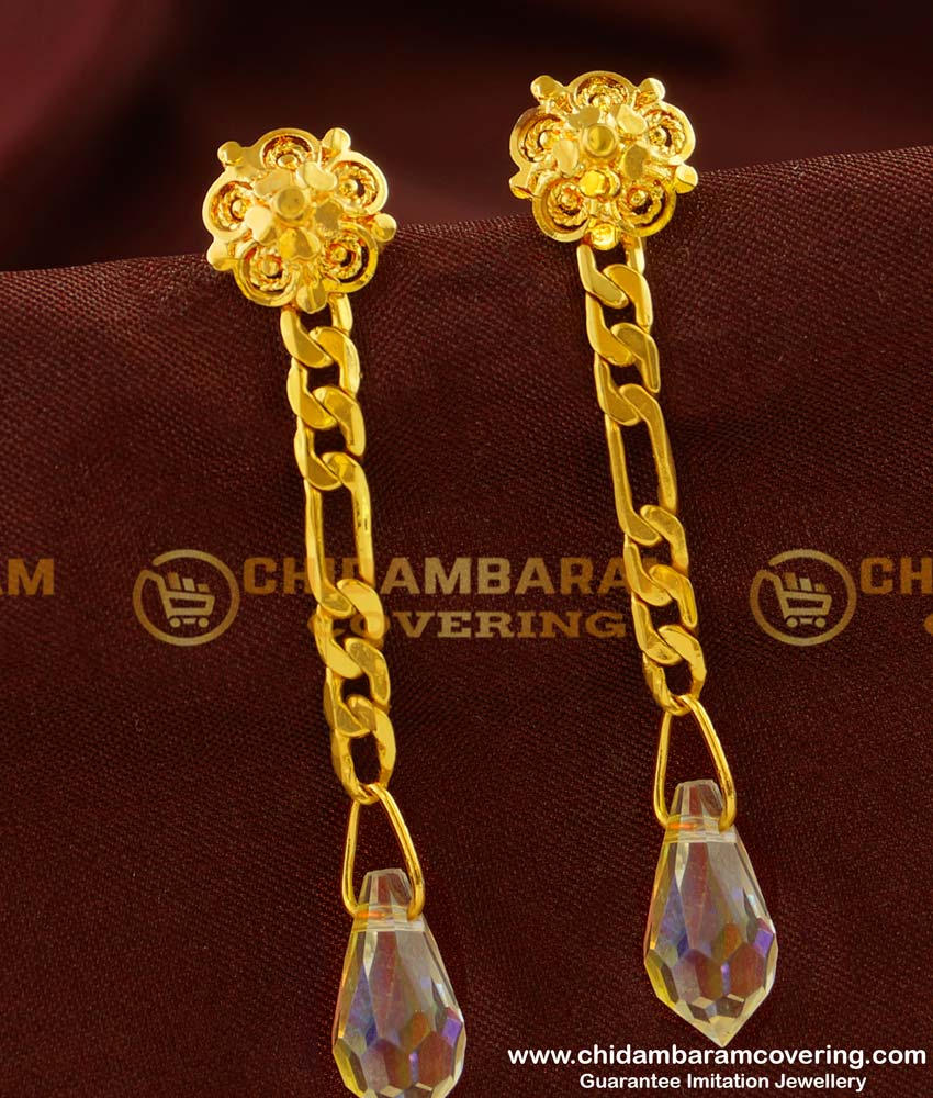 ERG140 - daily wear simple Earring easy wear dangler earrings for school girls