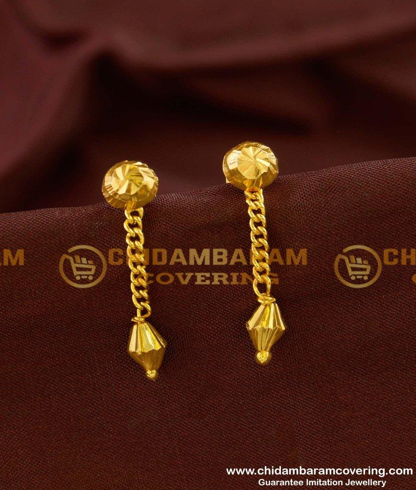 ERG149 - Daily Wear Hanging Drops Earrings Guarantee Jewellery Baby Earrings Online
