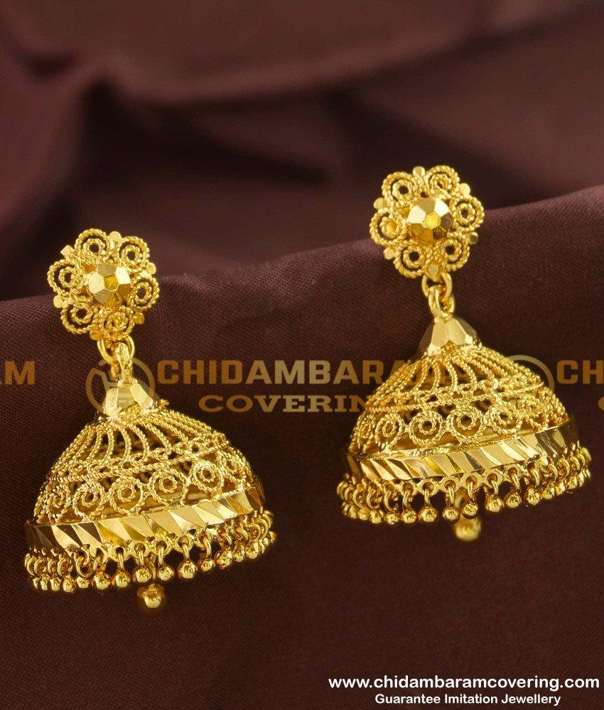 ERG151 - New Jimikki Kammel Design in Gold Plated Jewelry Online Shopping