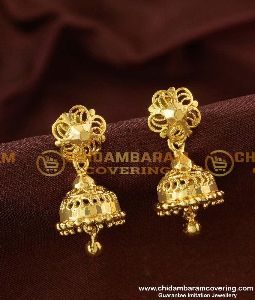 ERG164 - Latest Medium Size Jhumkas Designs Online Collections