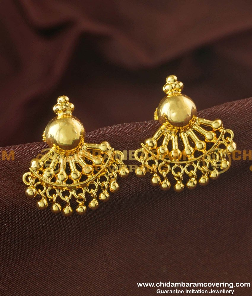 ERG168 - Latest Daily Wear Gold Plated Ear Studs Designs Online