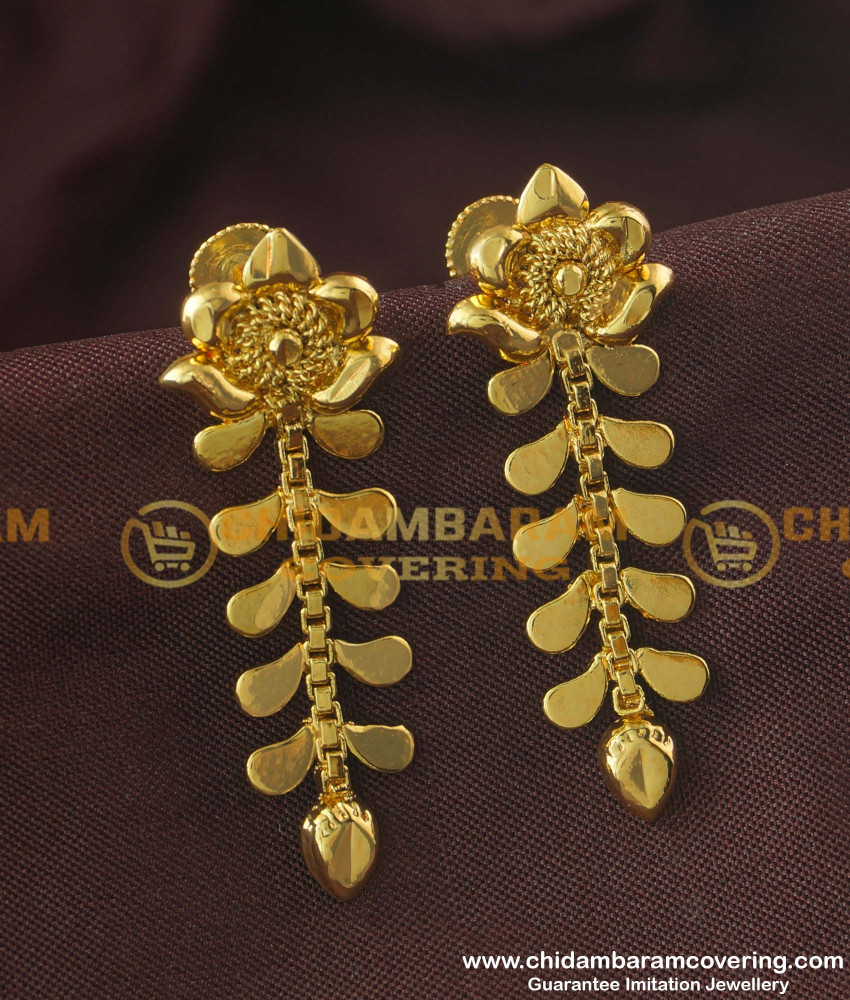 ERG176 - Latest Fashion Gold Plated Earring Design Online