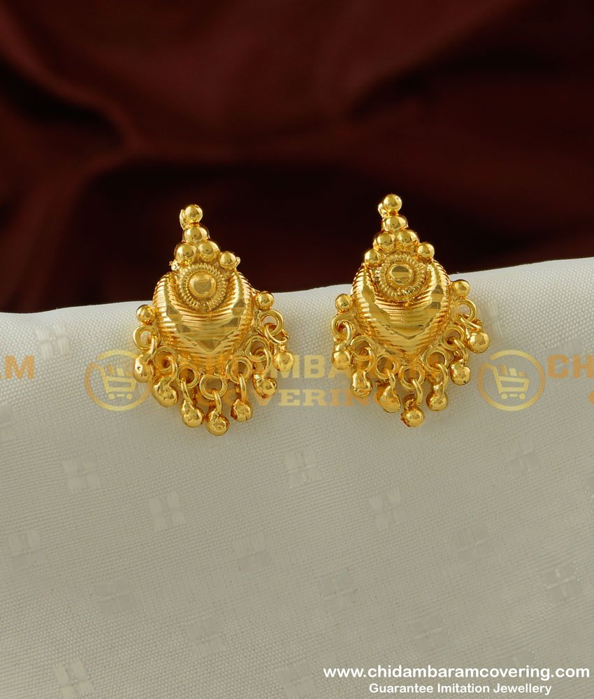 ERG203 - Casual Wear One Gram Gold Plated Stud Earring Designs Online