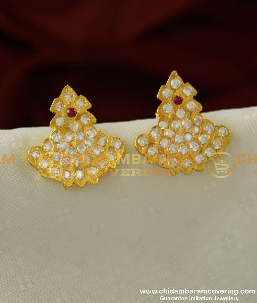 ERG223 - Ayimpon Stud Real Gold Like Guarantee Stone Earrings