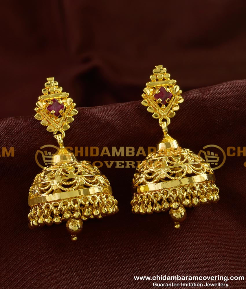 ERG245 - New Jimikki Kammel Design in Gold Plated Jewelry Buy Online Shopping