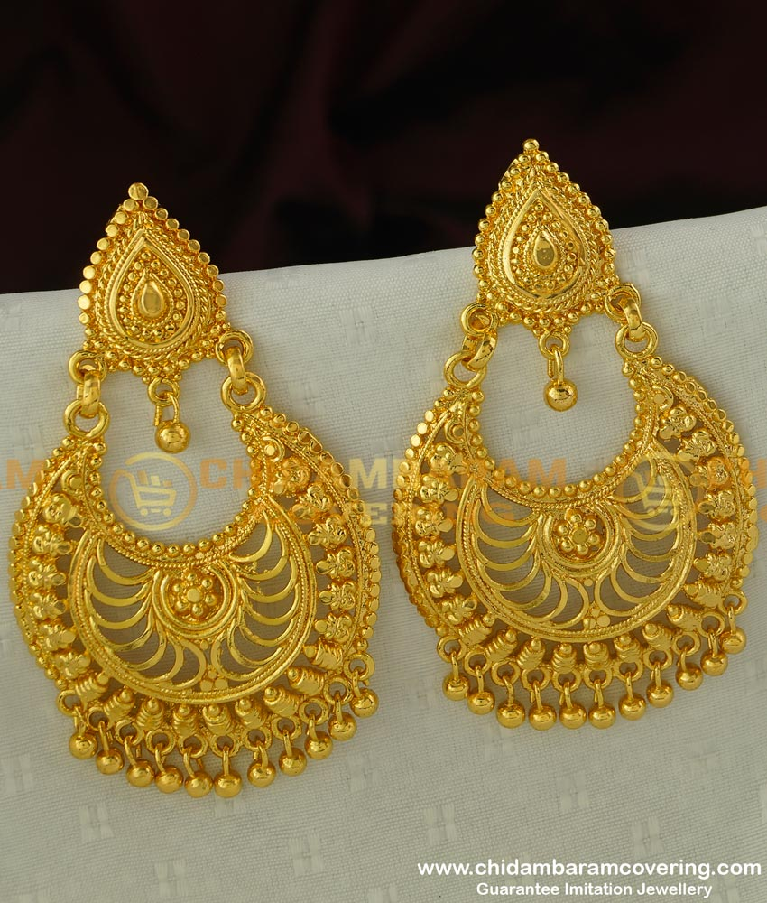 ERG295 - Bollywood Style Party Wear Chandelier Earring Indian Jewellery Buy Online