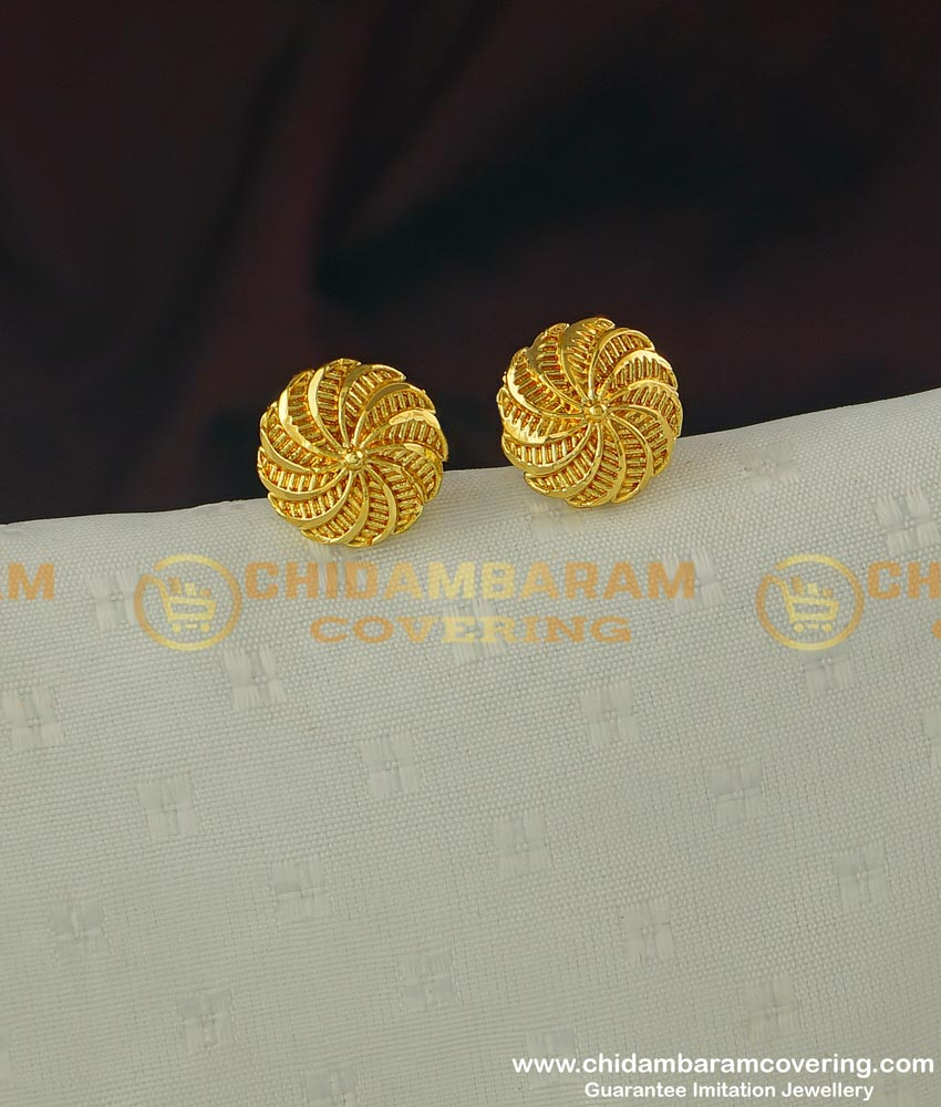 ERG314 - Daily Wear Medium Size Stud Designs Imitation Earrings for Girls