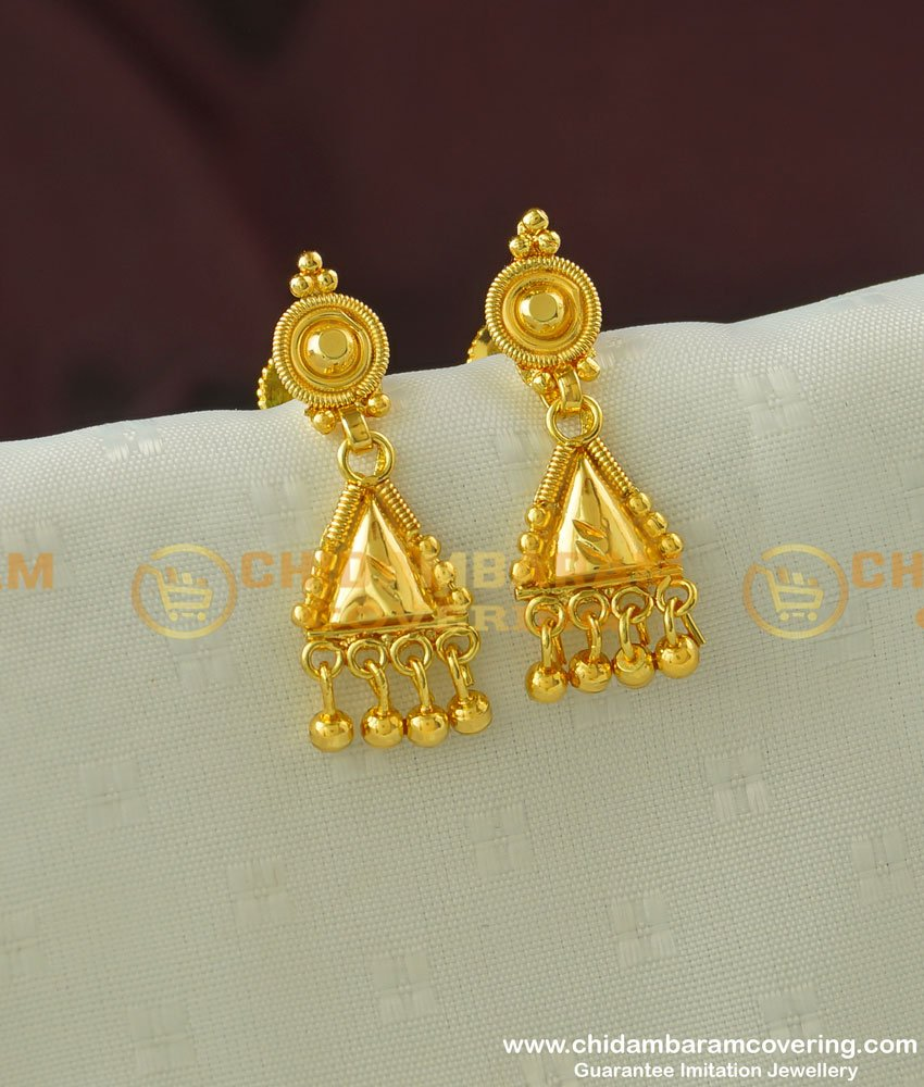 ERG336 - Daily Wear Gold Plated Light Weight Earring Collection Buy Online