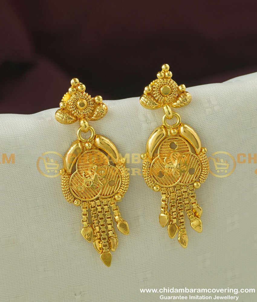 ERG337 - Light Weight Gold Inspired Earrings Gold Covering Jewellery Buy Online