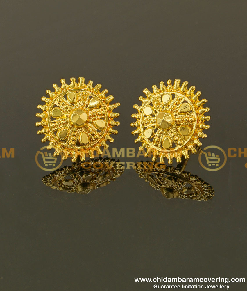ERG349 - Trendy South Indian Imitation Earrings For Women Daily Wear Collection