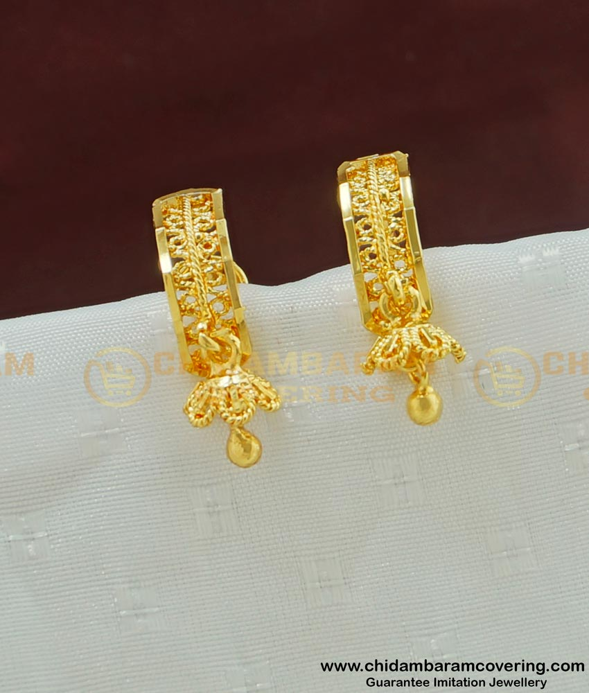 ERG475 - Trendy Small Gold Earring Design Gold Plated Jewelry Online