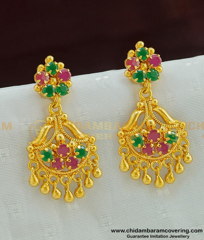 ERG486 - Attractive High Quality Function Wear CZ Danglers Earring