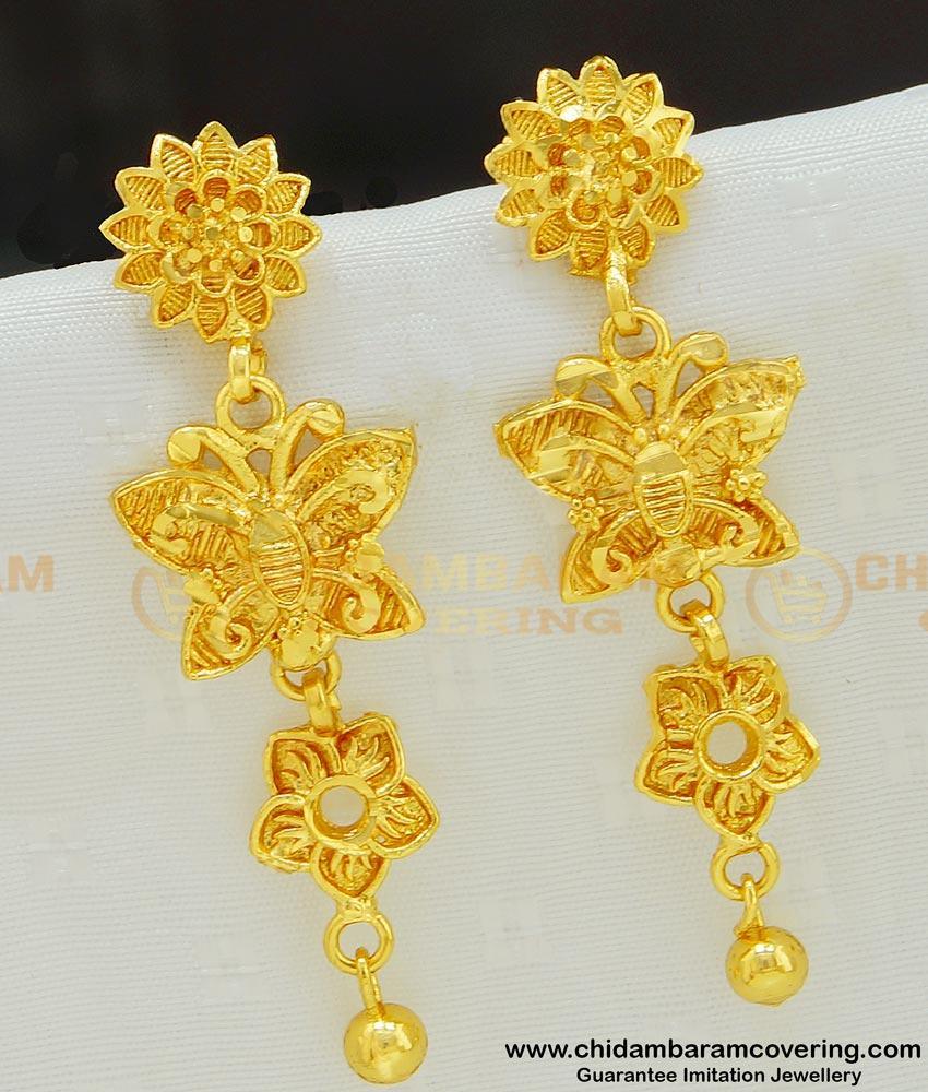 ERG544 - New Design Butterfly Design Long Dangle Earrings Artificial Jewellery