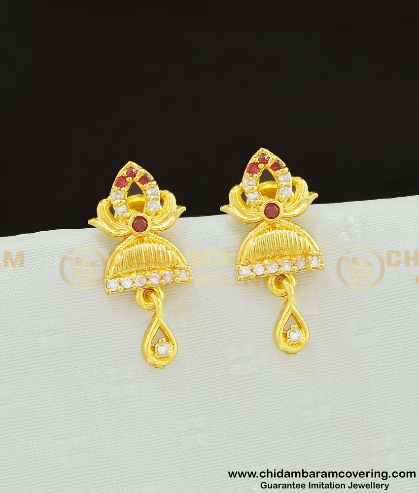 ERG602 - New Arrival Party Wear High Quality Stone Kids Earrings Gold Design Online