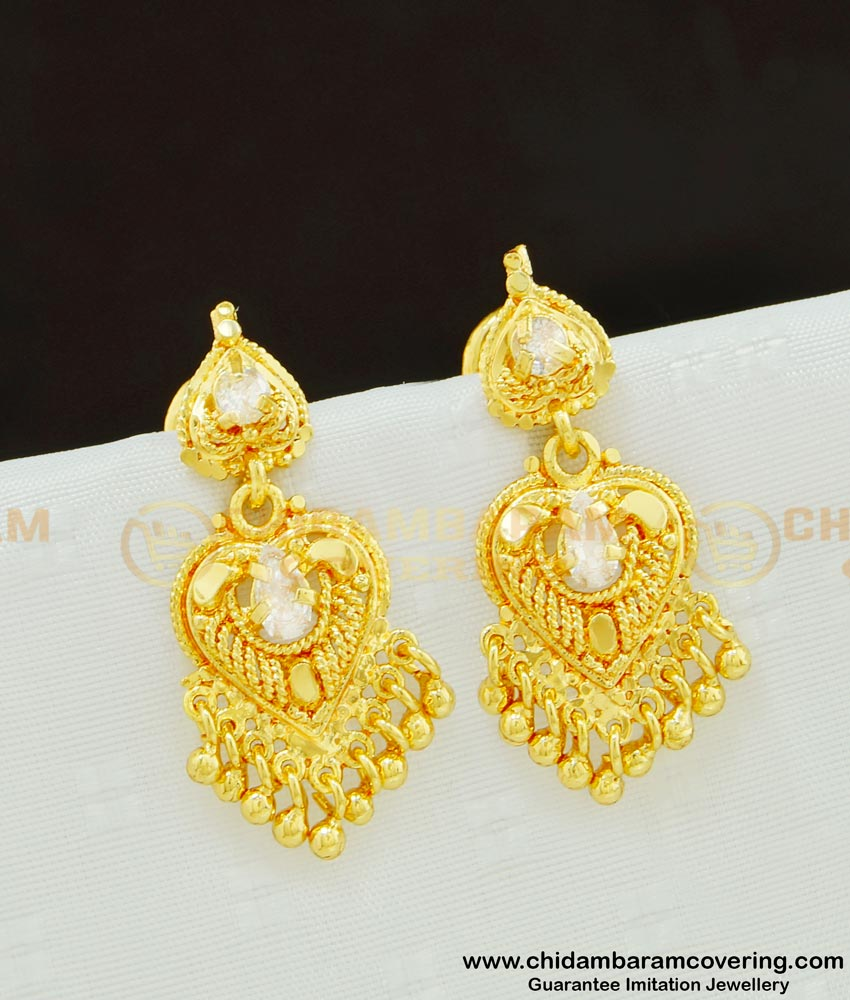 ERG617 - New Model American Diamond Dangler Earring Design Online